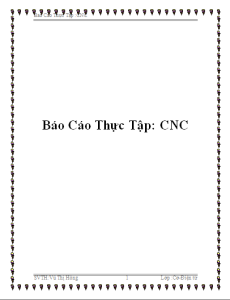 báo cáo thực tập CNC